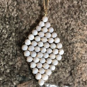 NATURAL STONE Pendant Necklace NWT
